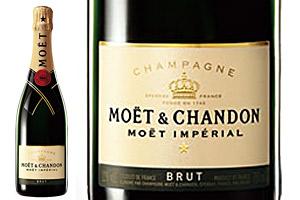 フランス産のシャンパンとセットの電報「モエ・エ・シャンドン」
