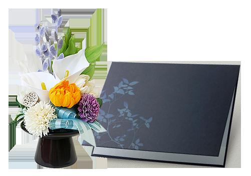 カラーや菊の仏花・供花ソープフラワーが華やかな弔電「仏花ソープフラワー 哀惜」